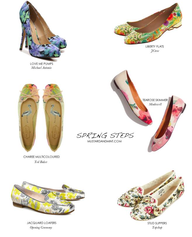 Blog floral spring shoes